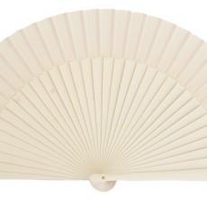 Abanicos lisos de varios colores de 23 cm
