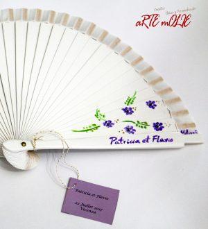 Abanicos pintados a Mano personalizados para tu enlace