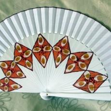 """Abanico decorado con diseño cordobés """"Salmorejo"""""""