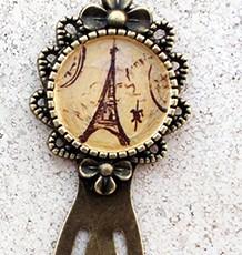 """Punto de libro pintado a mano""""Paris"""""""