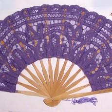 Abanico de encaje en distintos colores pintado a mano