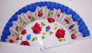 Semipericón pintado a mano y personalizado con flores rojas