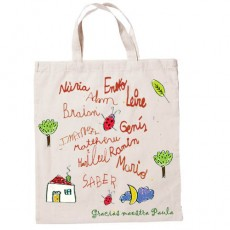 Bolsa de tela personalizada para maestras