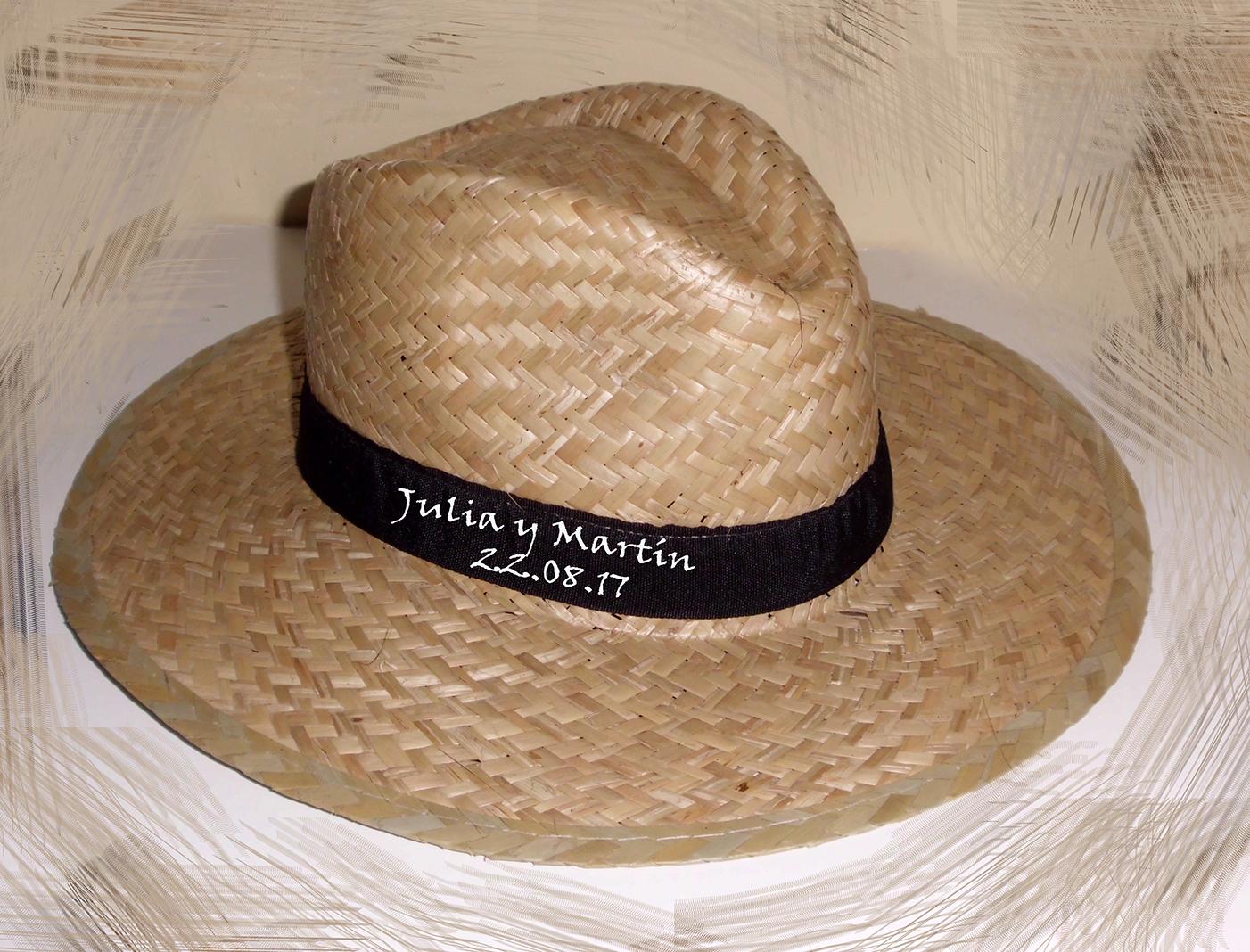 Sombrero de paja artesanal y personalizado a mano