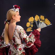 Abanico semipericón para flamenco