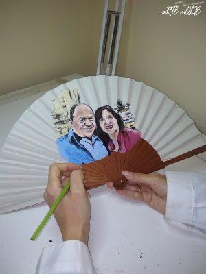 Retratos de parejas pintados a mano